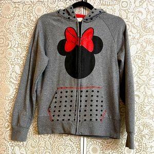 Disney Minnie Mouse Grey Polka Dot Hoodie XS